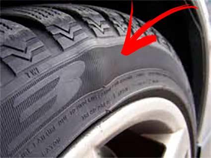 Daño neumáticos