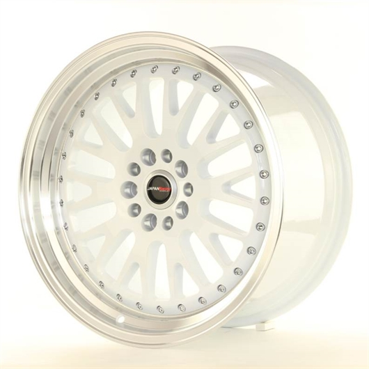 Llantas réplica BBS Japan Racing JR10 blanco y pulido